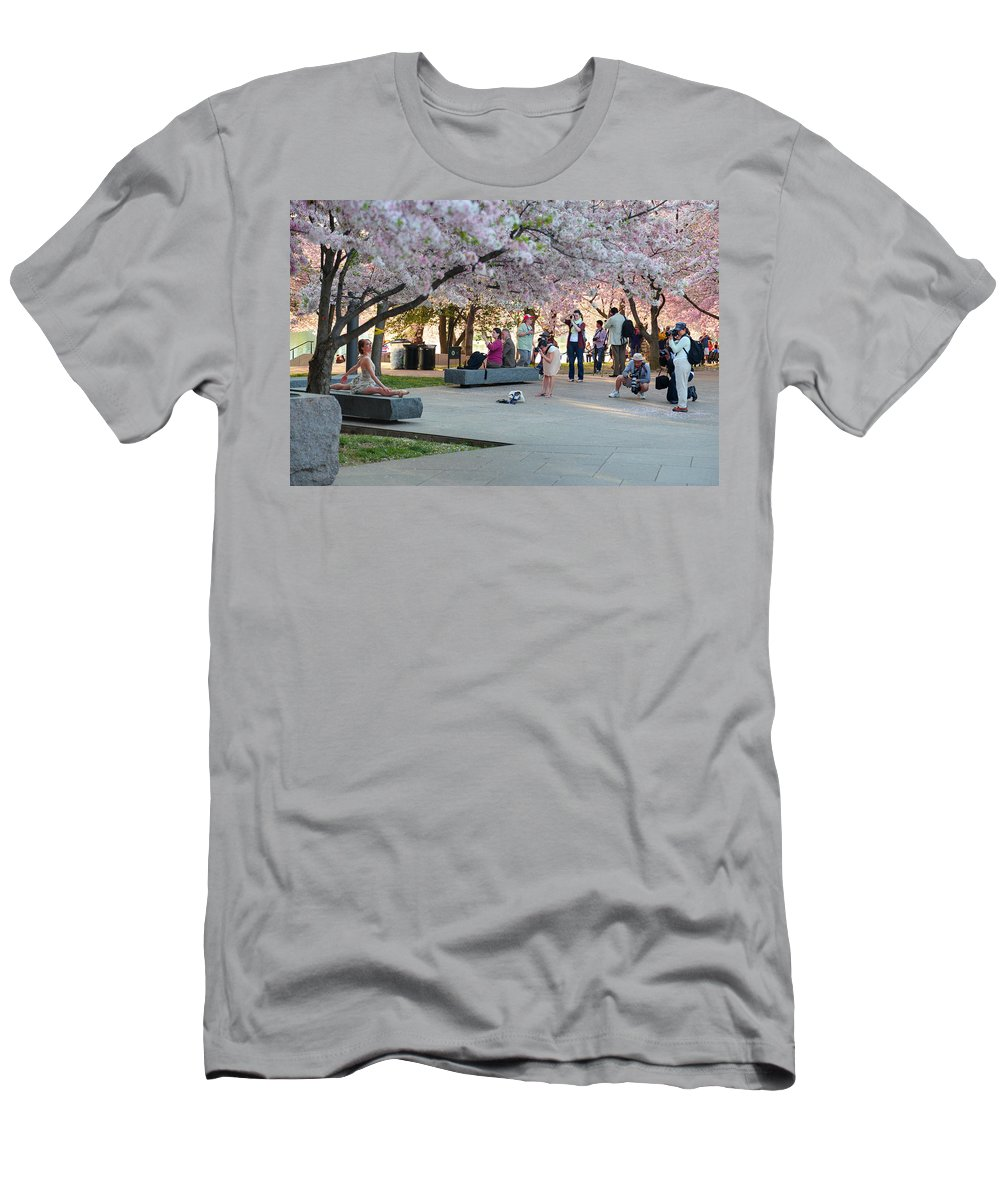 Architectural Men's T-Shirt (Athletic Fit) featuring the photograph Cherry Blossoms 2013 - 069 by Metro DC Photography