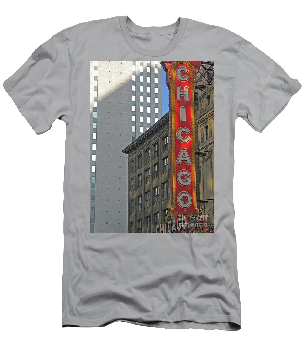 Chicago Men's T-Shirt (Athletic Fit) featuring the photograph Chicago by Ann Horn