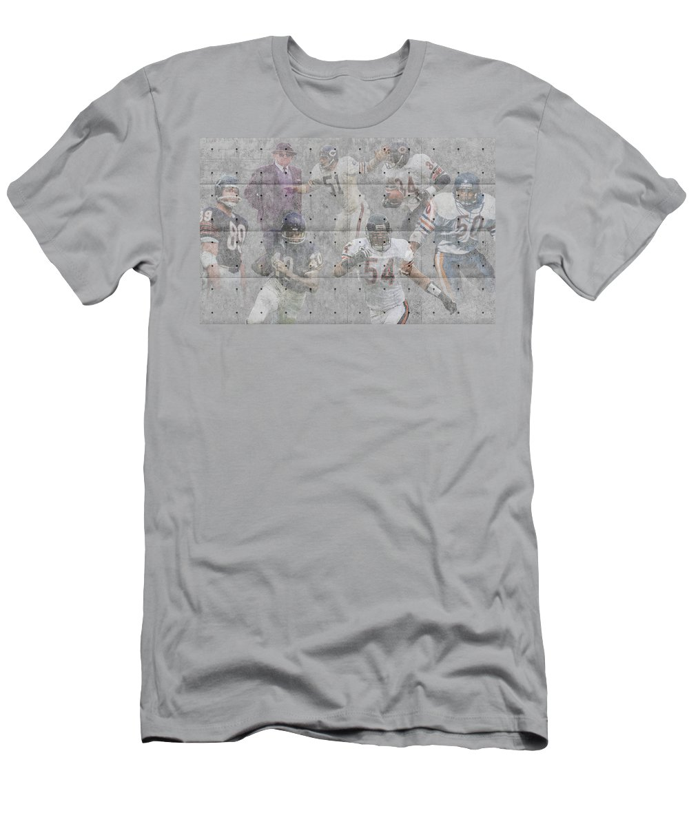 Bears Men's T-Shirt (Athletic Fit) featuring the photograph Chicago Bears Legends by Joe Hamilton