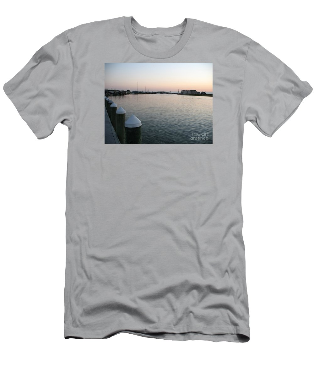 Sond Men's T-Shirt (Athletic Fit) featuring the photograph Chincoteague Sound In The Eveninglight by Christiane Schulze Art And Photography