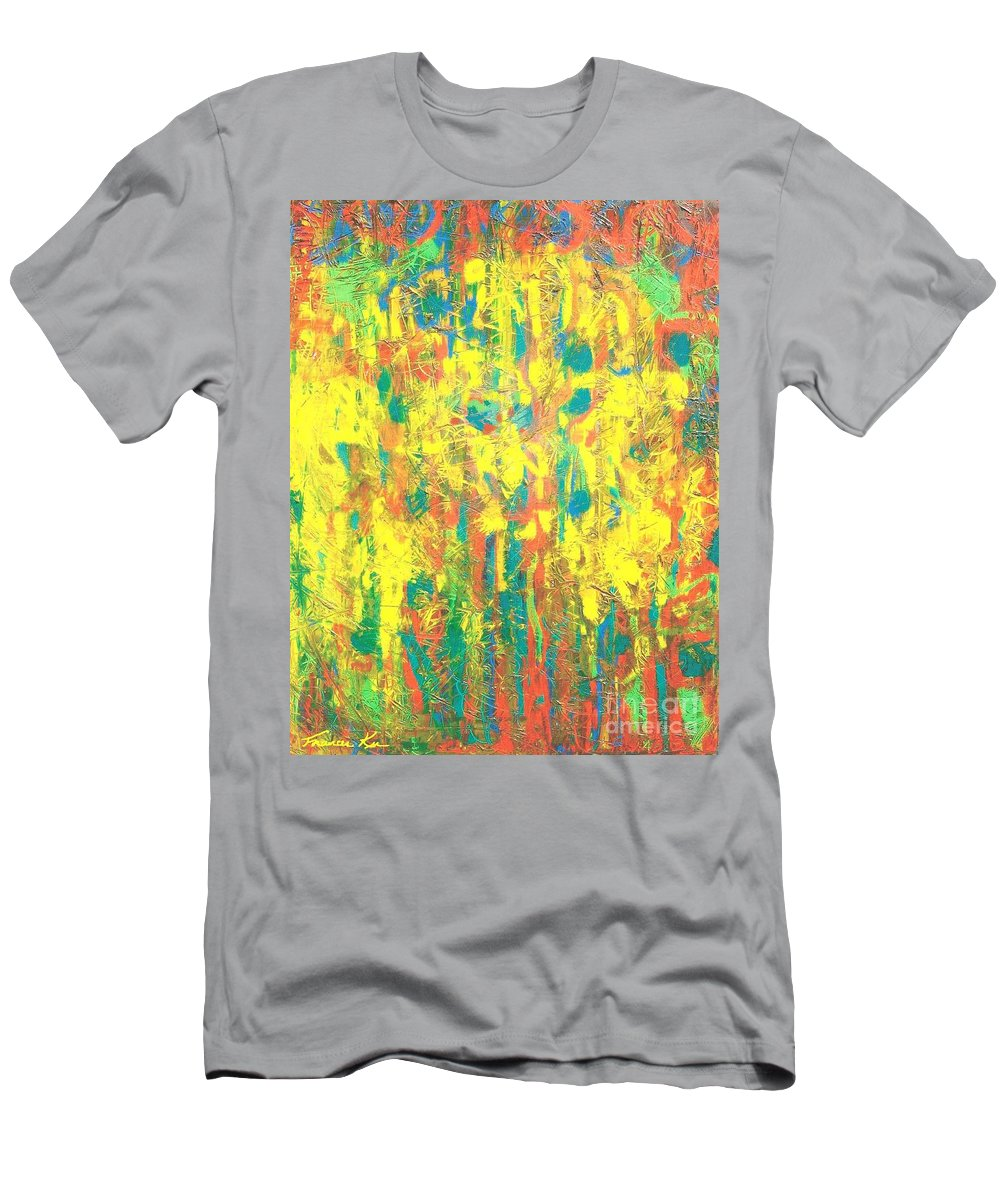 Abstract Men's T-Shirt (Athletic Fit) featuring the painting Chinese New Year by Frances Ku