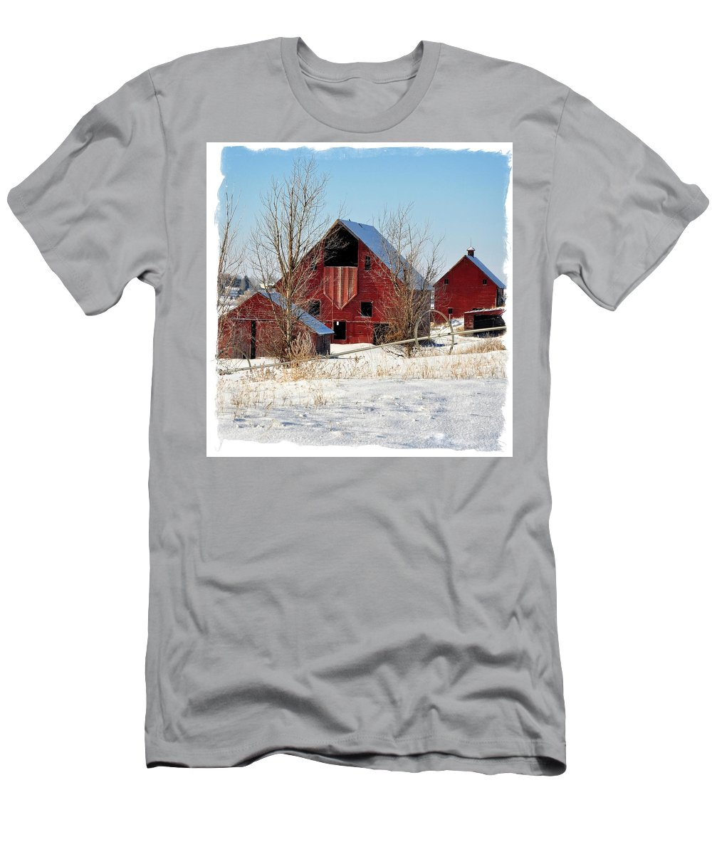 Idaho Falls Men's T-Shirt (Athletic Fit) featuring the photograph Christmas Time In Idaho Falls by Image Takers Photography LLC - Laura Morgan