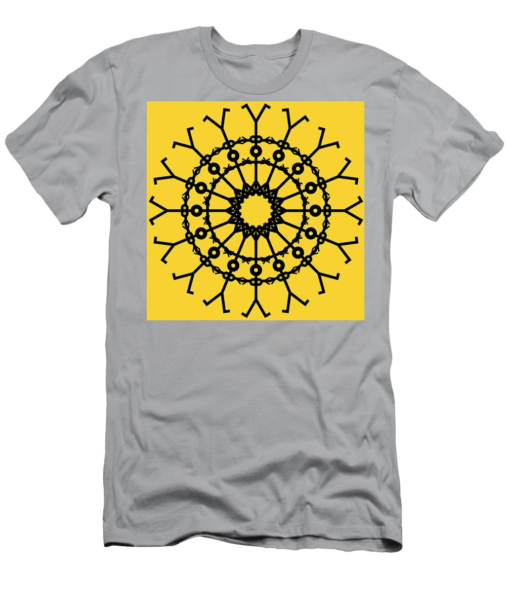 Male Men's T-Shirt (Athletic Fit) featuring the painting Circle 2 Icon by Thisisnotme
