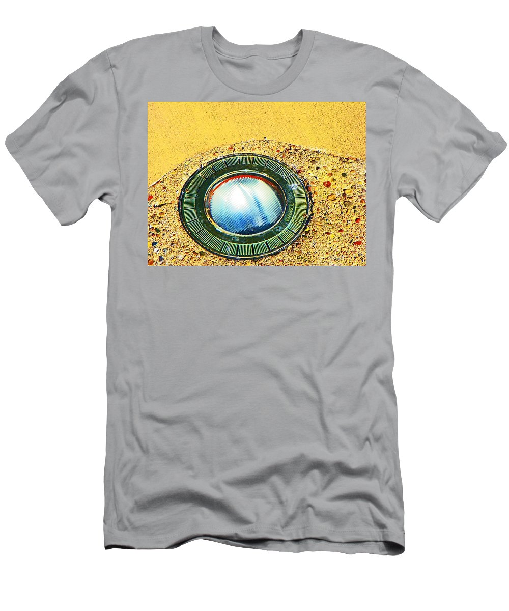 Abstract Men's T-Shirt (Athletic Fit) featuring the photograph Circles Within Circles Within by Lenore Senior