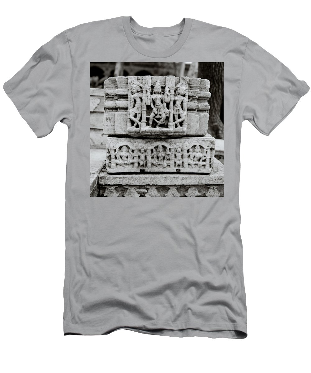 Udaipur Men's T-Shirt (Athletic Fit) featuring the photograph City Palace Apsara Dancers by Shaun Higson