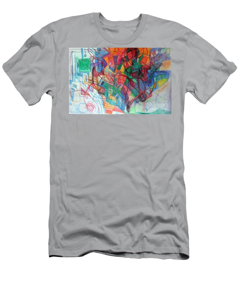 Torah Men's T-Shirt (Athletic Fit) featuring the drawing Clarification 4 by David Baruch Wolk