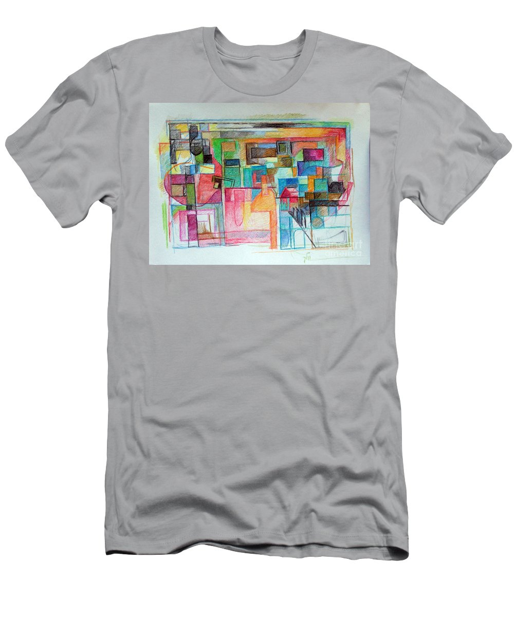Torah Men's T-Shirt (Athletic Fit) featuring the drawing Clarification 6 by David Baruch Wolk