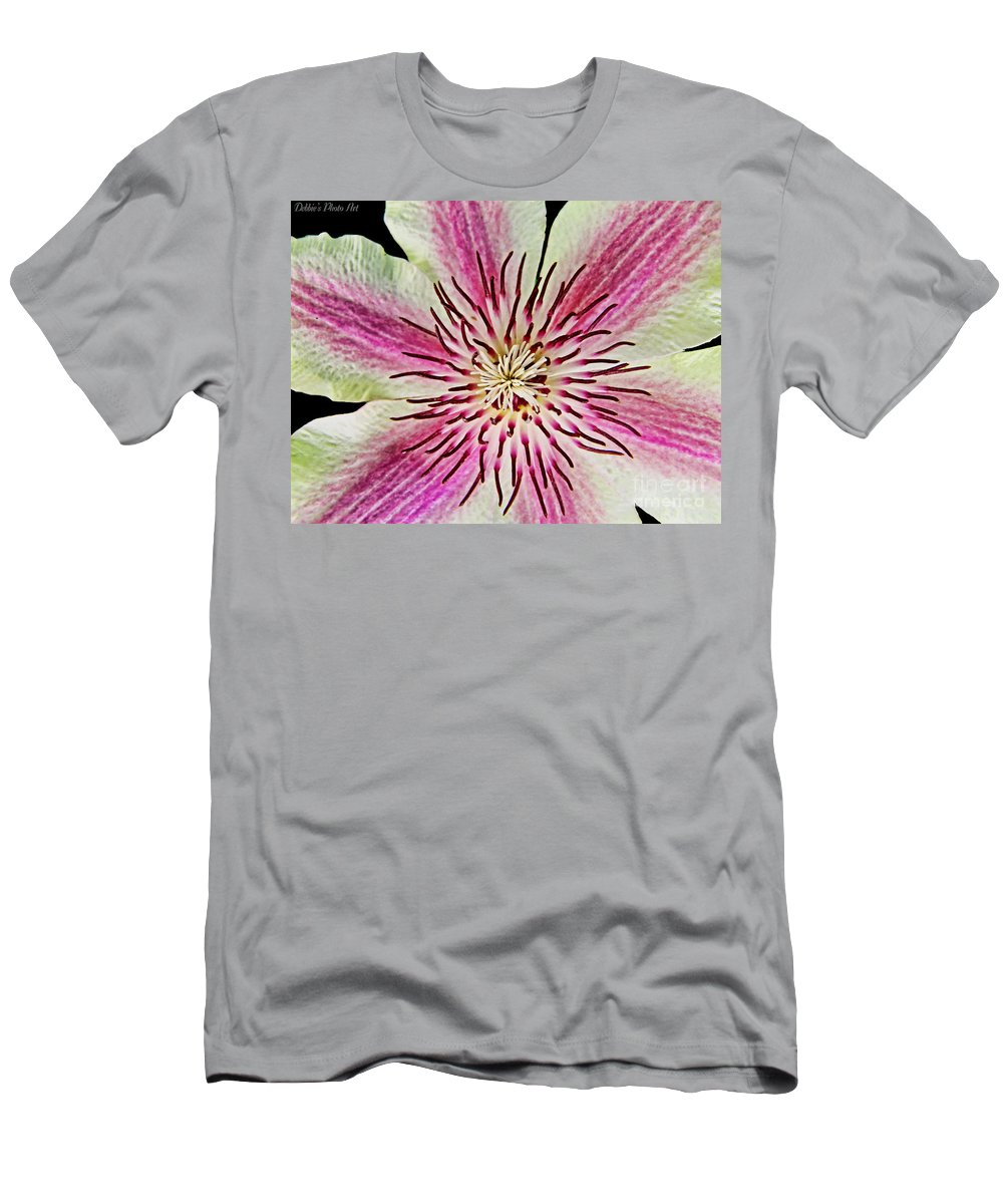 Flower Men's T-Shirt (Athletic Fit) featuring the photograph Clematis IIi by Debbie Portwood