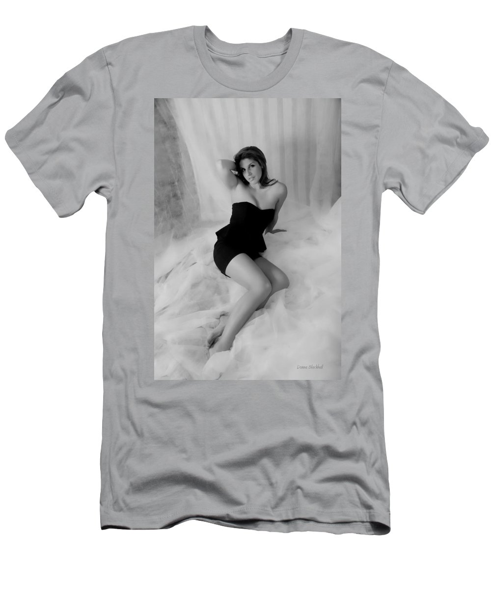 Lady Men's T-Shirt (Athletic Fit) featuring the photograph Cloud Nine by Donna Blackhall