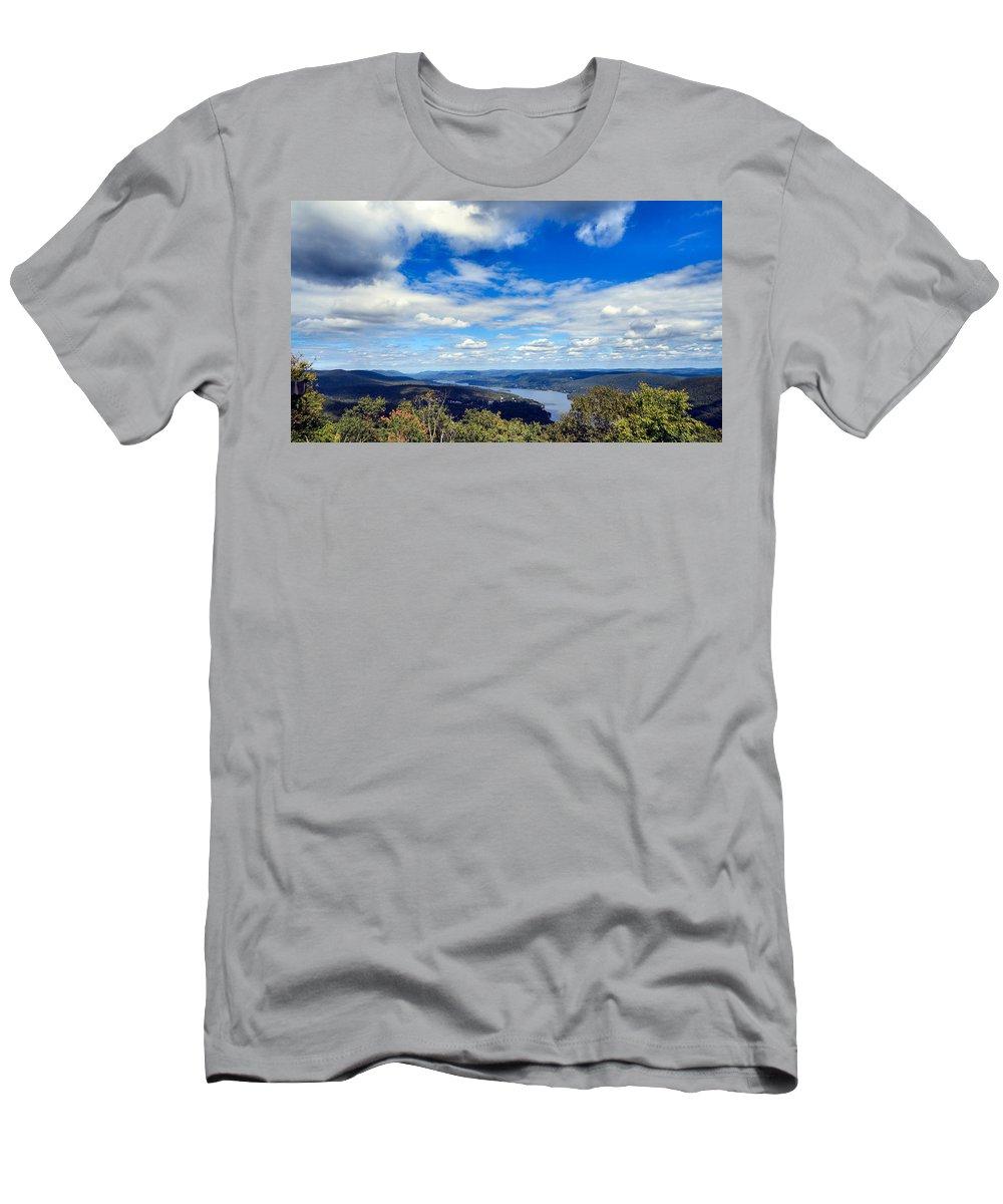 Sky Men's T-Shirt (Athletic Fit) featuring the photograph Cloud Pockets by Art Dingo