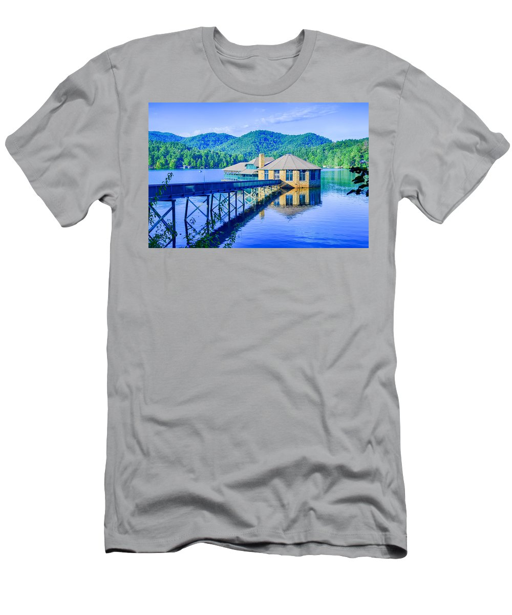 Club Men's T-Shirt (Athletic Fit) featuring the photograph Clubhouse On Lake Tahoma by Alex Grichenko