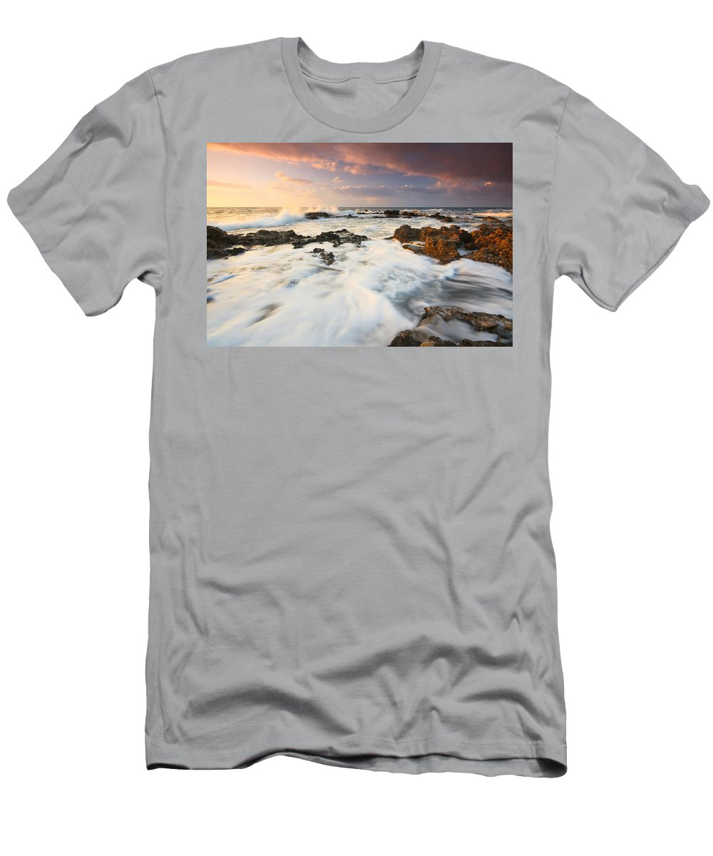Greece Men's T-Shirt (Athletic Fit) featuring the photograph coast of Crete 'II by Milan Gonda