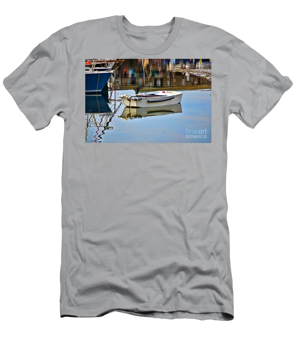 Lyme Regis Men's T-Shirt (Athletic Fit) featuring the photograph Cobb Reflections by Susie Peek
