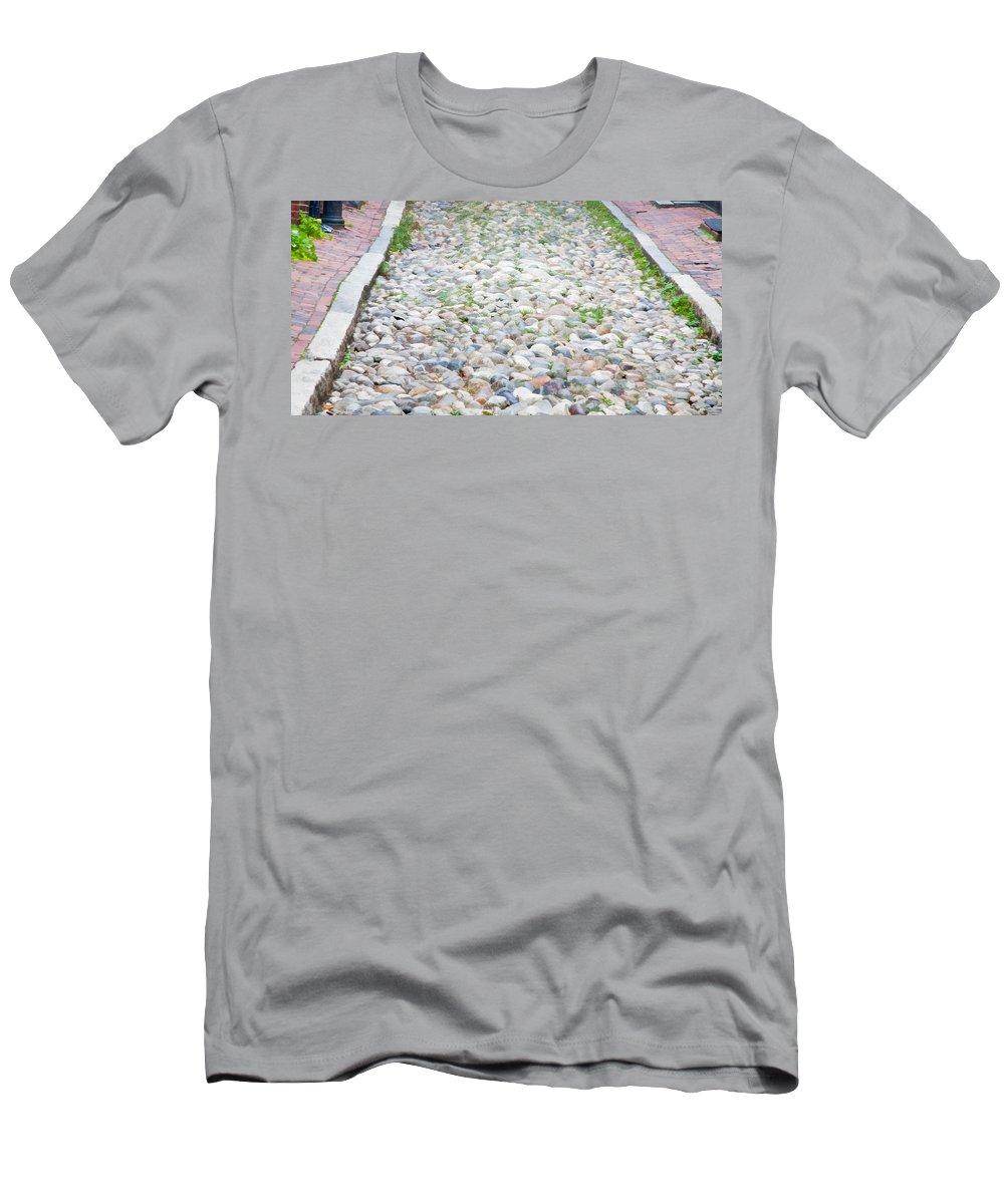 Boston Men's T-Shirt (Athletic Fit) featuring the photograph Cobblestones by Natalie Rotman Cote