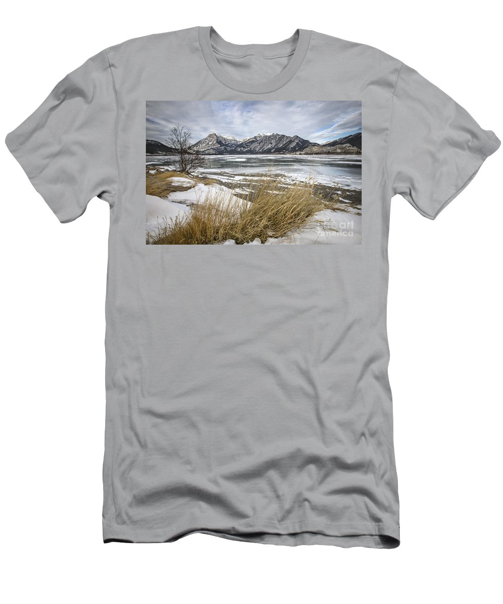 Banff Men's T-Shirt (Athletic Fit) featuring the photograph Cold Landscapes by Evelina Kremsdorf