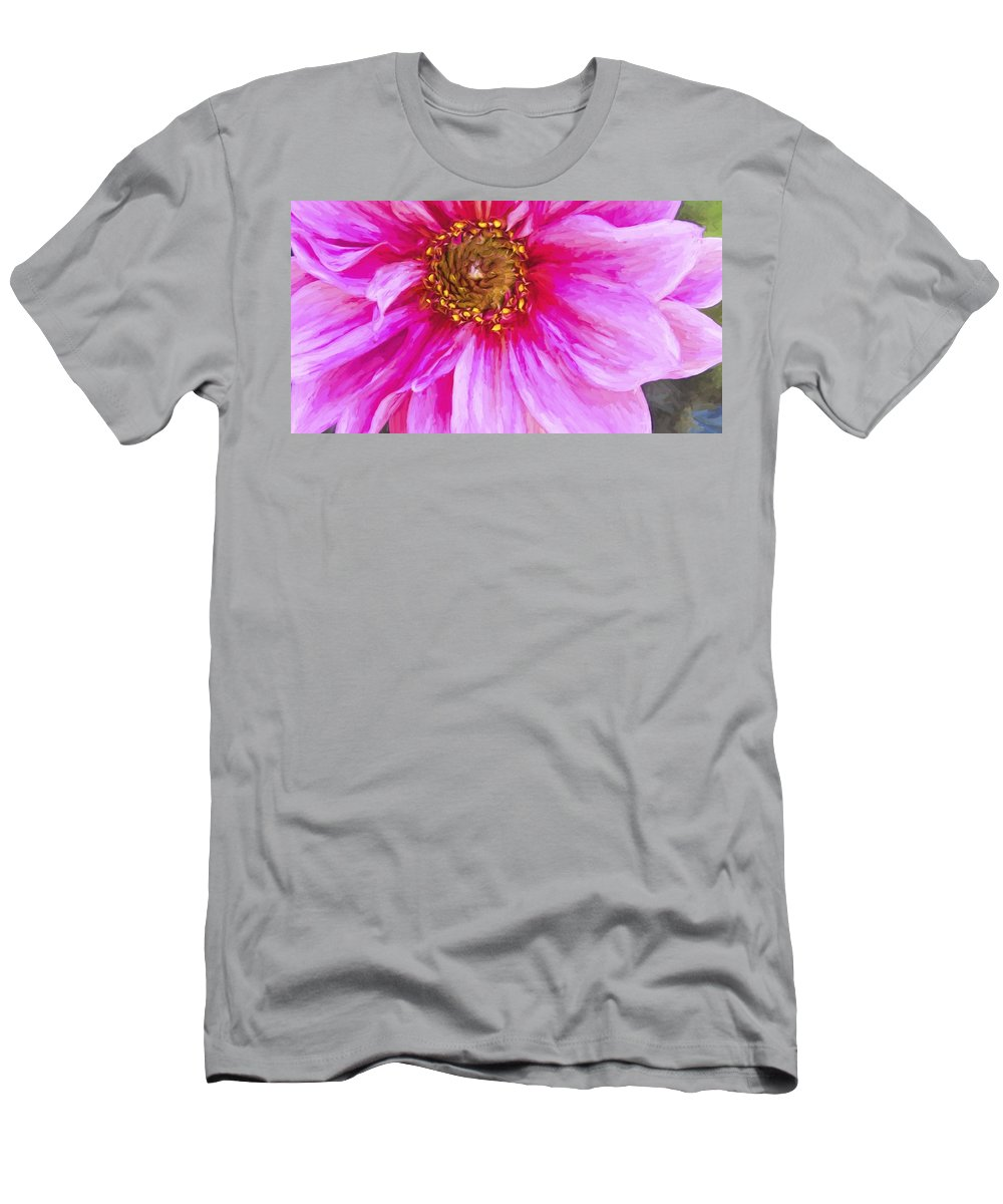 Flower Men's T-Shirt (Athletic Fit) featuring the photograph Color Wow by Alice Gipson