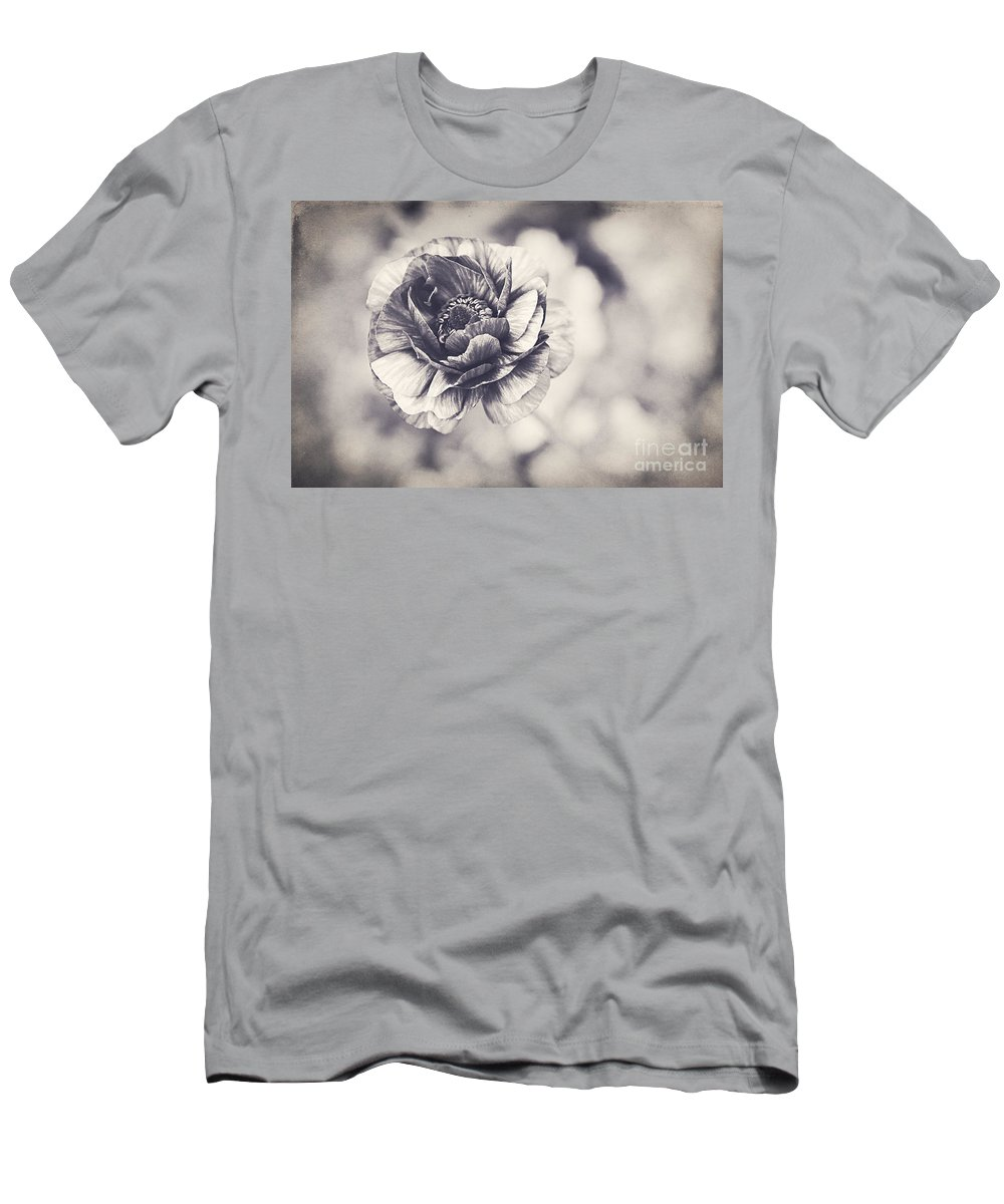 Black And White Men's T-Shirt (Athletic Fit) featuring the photograph Coming Up In Black And White by Emily Kay