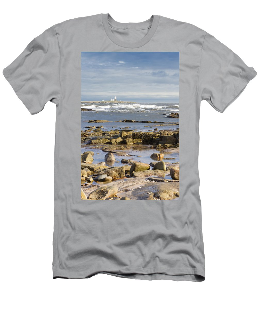 Northumberland Men's T-Shirt (Athletic Fit) featuring the photograph Coquet Island by David Head
