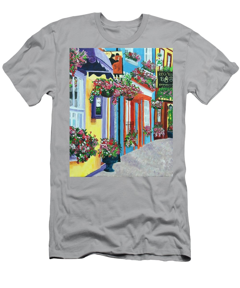 Cork Men's T-Shirt (Athletic Fit) featuring the painting Cork by Frankie Picasso
