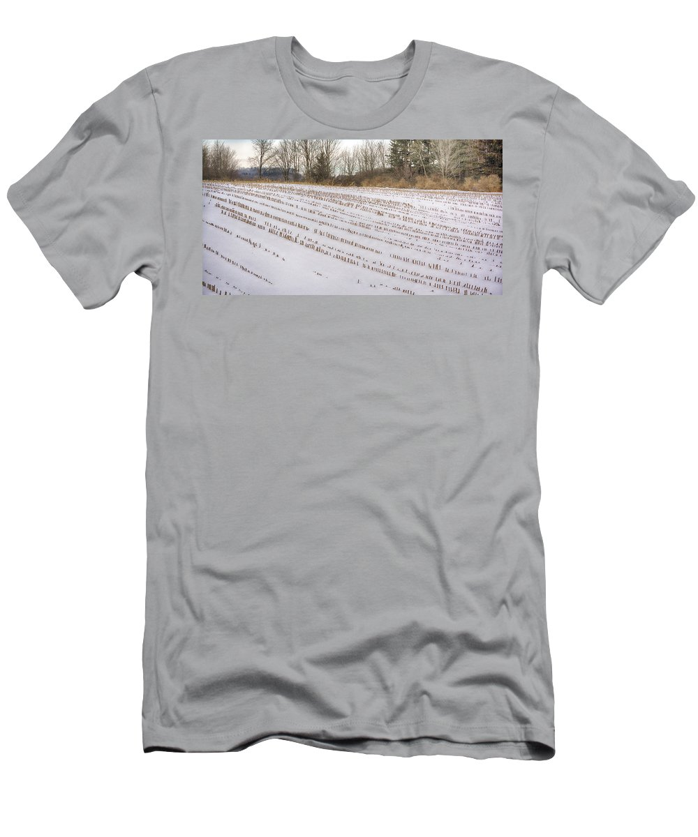 Guy Whiteley Photography Men's T-Shirt (Athletic Fit) featuring the photograph Corn Code by Guy Whiteley