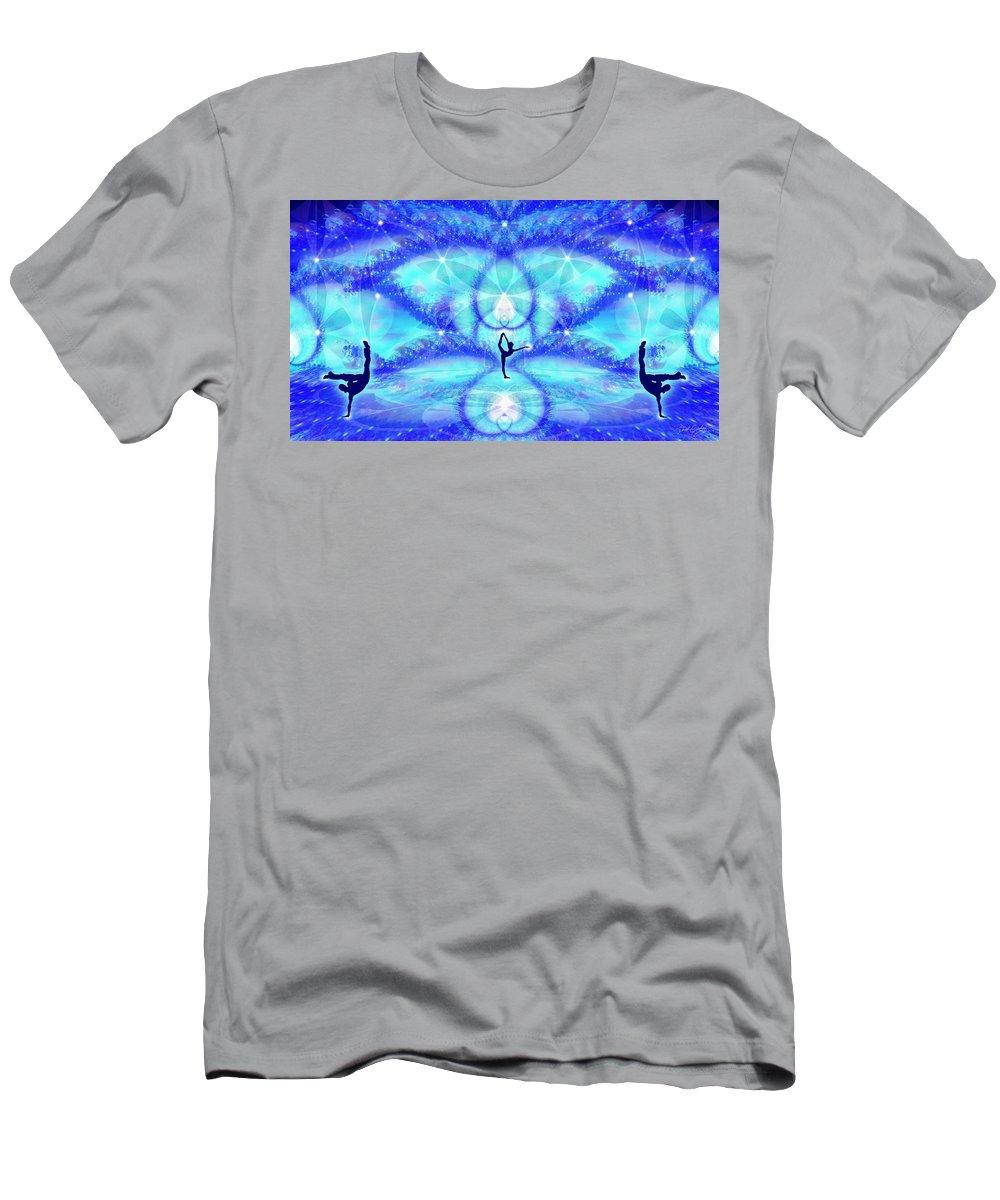 Cosmic Spiral Ascension Men's T-Shirt (Athletic Fit) featuring the digital art Cosmic Spiral Ascension 65 by Derek Gedney