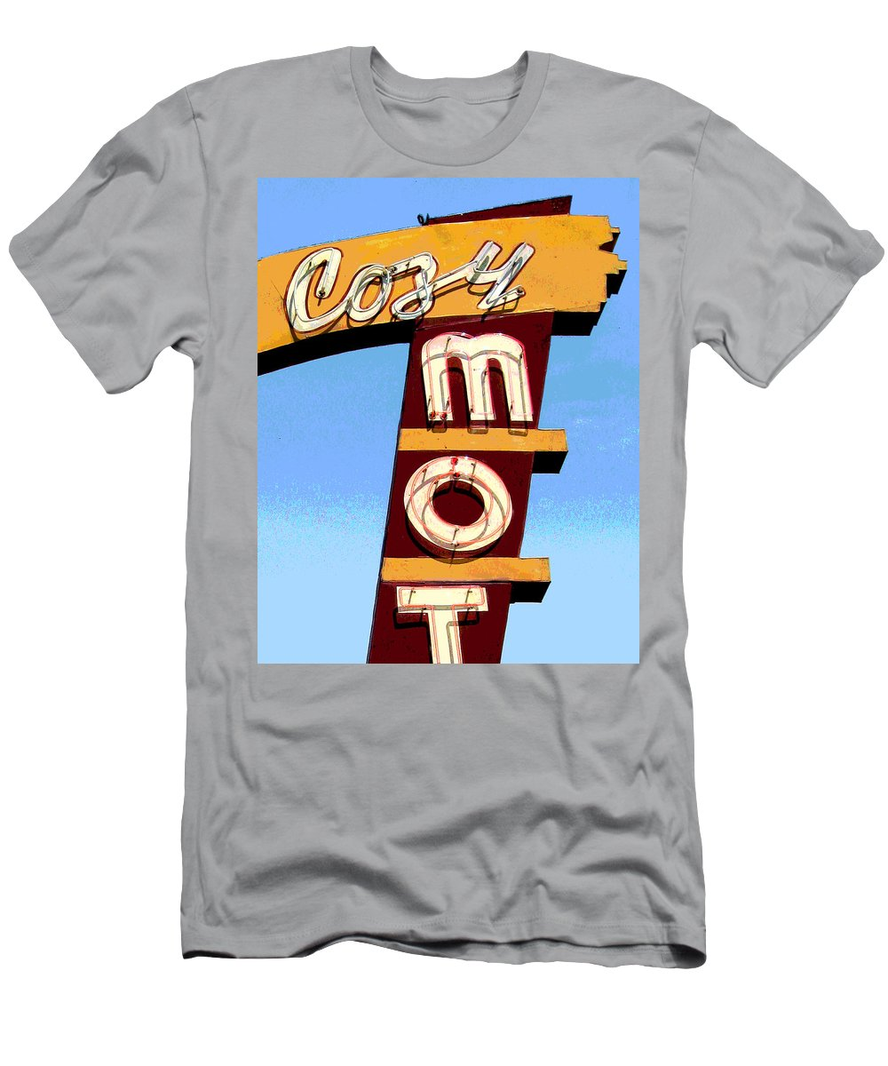 Mid Century Men's T-Shirt (Athletic Fit) featuring the photograph Cozy Mot by Larry Hunter