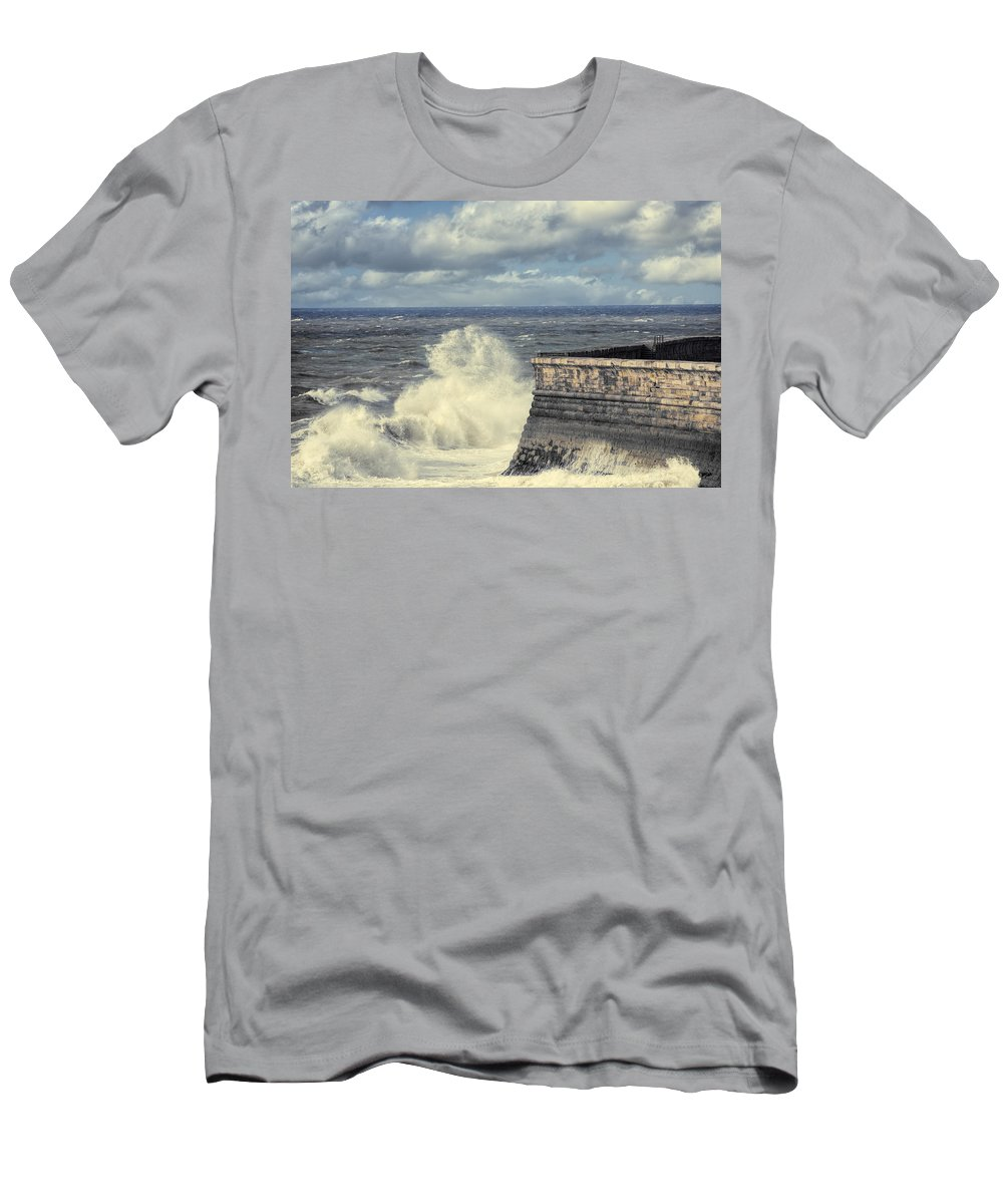 Whitehaven Men's T-Shirt (Athletic Fit) featuring the photograph Crashing Waves by Amanda Elwell
