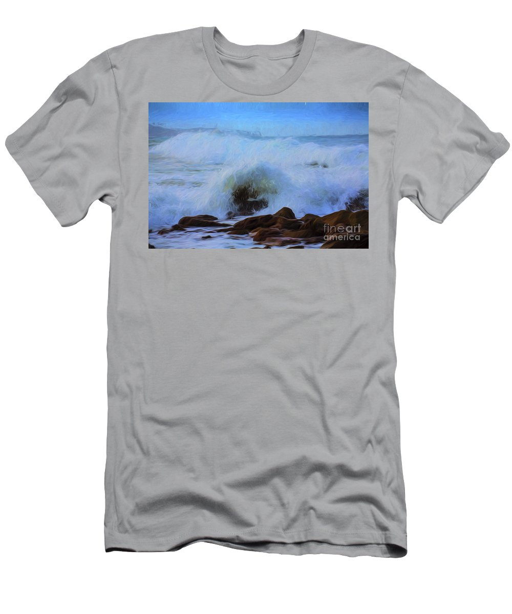 Crashing Waves T-Shirt featuring the photograph Crashing waves by Sheila Smart Fine Art Photography