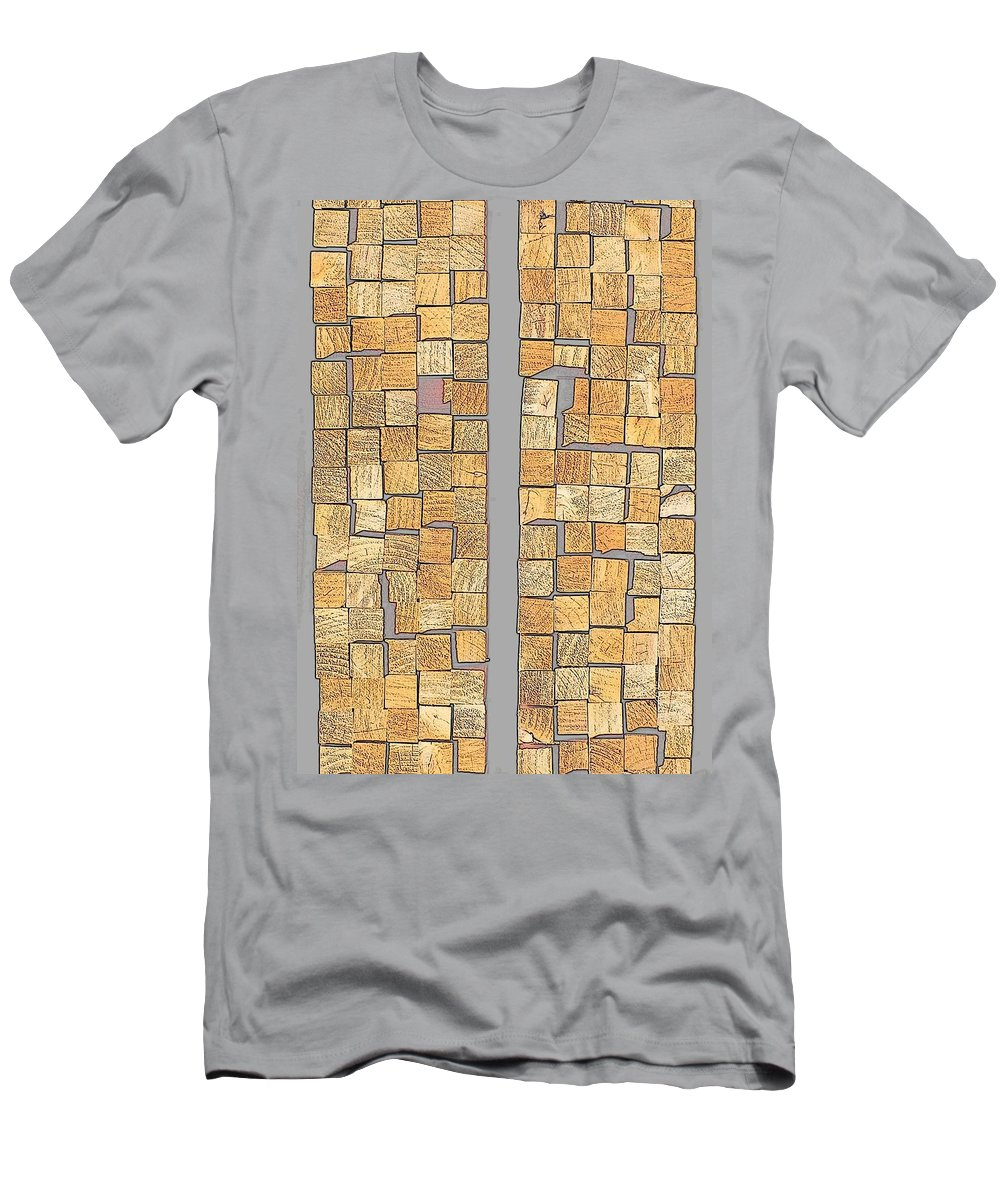 Hopper Men's T-Shirt (Athletic Fit) featuring the photograph Crazy Paving by Guy Pettingell