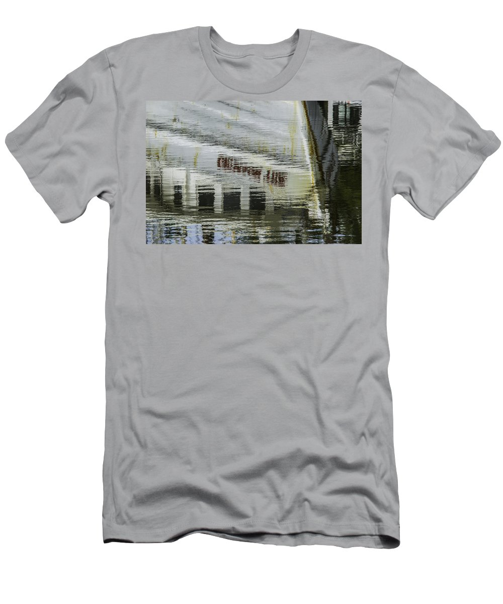 Palm Men's T-Shirt (Athletic Fit) featuring the digital art Crimson Tide Reflection by Michael Thomas