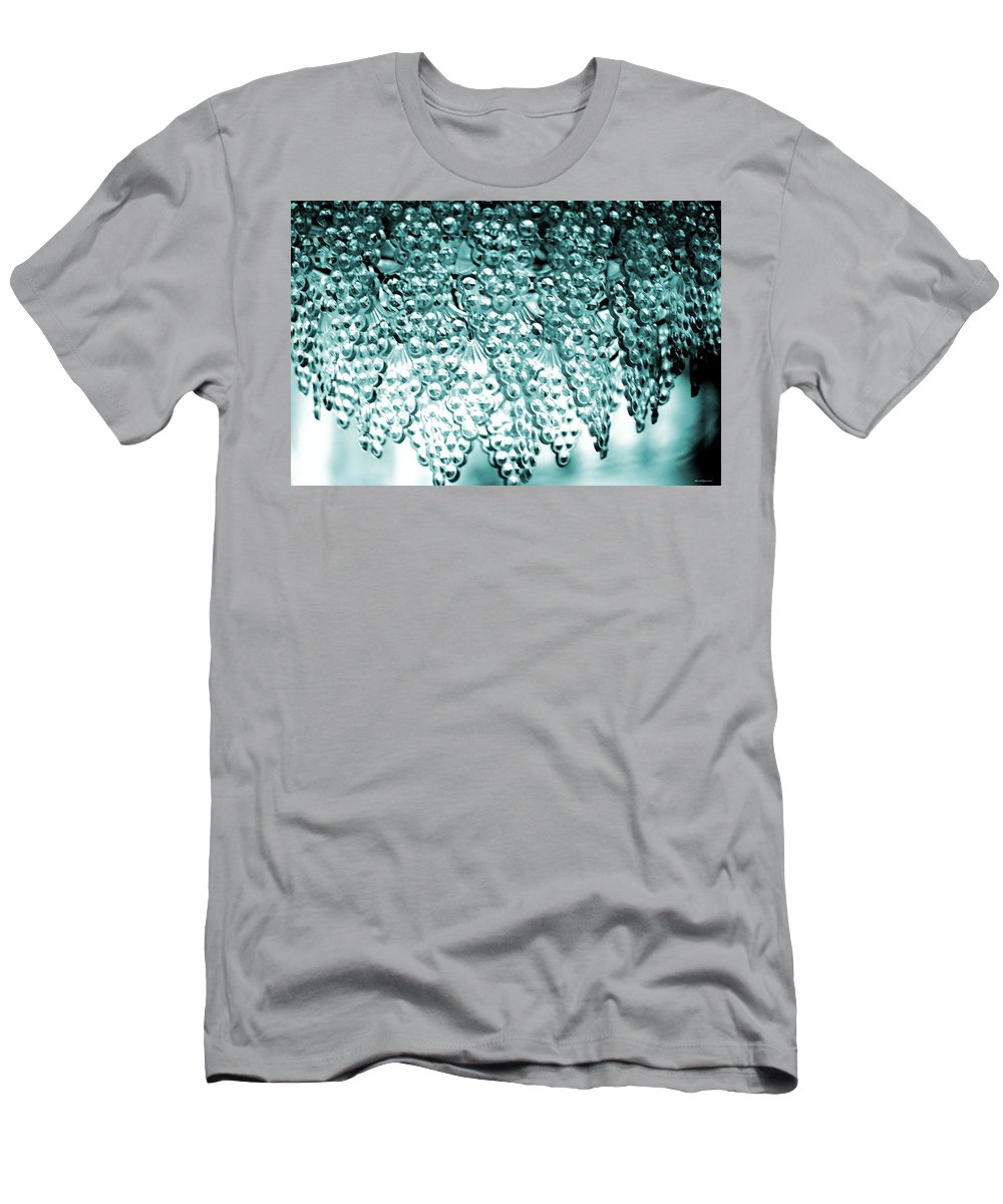 Crystal Blue Men's T-Shirt (Athletic Fit) featuring the photograph Crystal Blue by Maria Urso