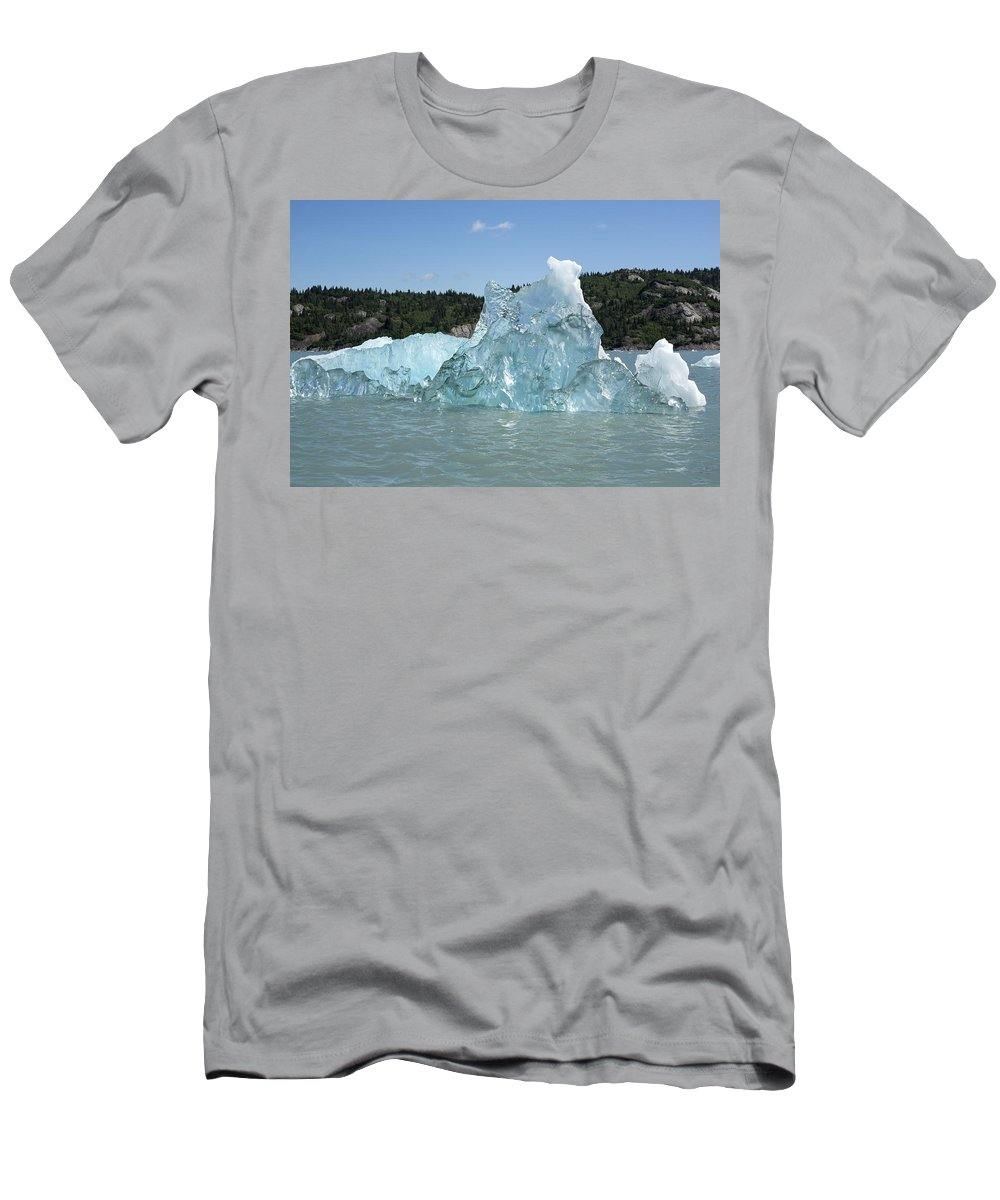 Ice Men's T-Shirt (Athletic Fit) featuring the photograph Crystal Clear by Ted Raynor