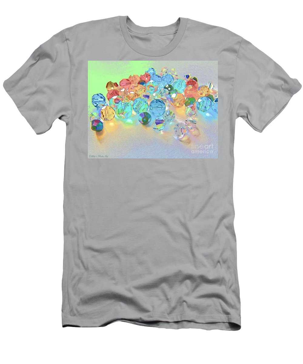 Beads Men's T-Shirt (Athletic Fit) featuring the photograph Crystallized II by Debbie Portwood