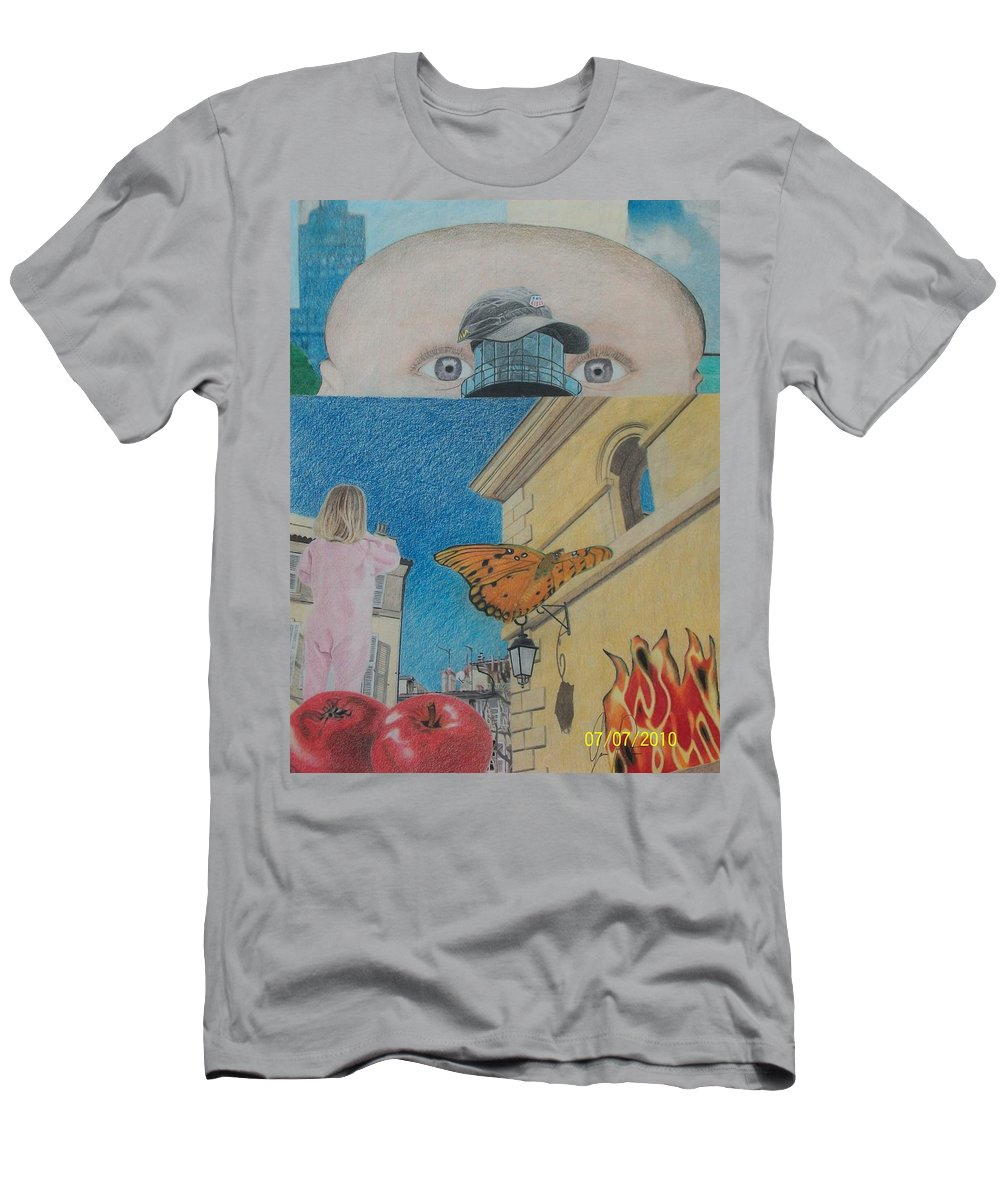 Children Men's T-Shirt (Athletic Fit) featuring the mixed media Curiosity by Jamie Preston