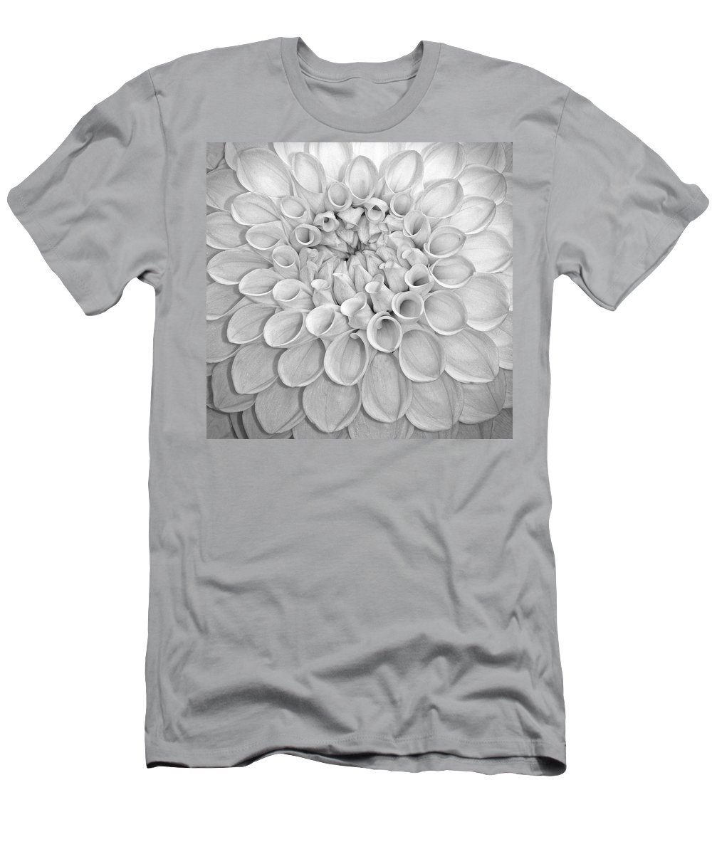 Dahlia Men's T-Shirt (Athletic Fit) featuring the photograph Dahlia by Dave Mills
