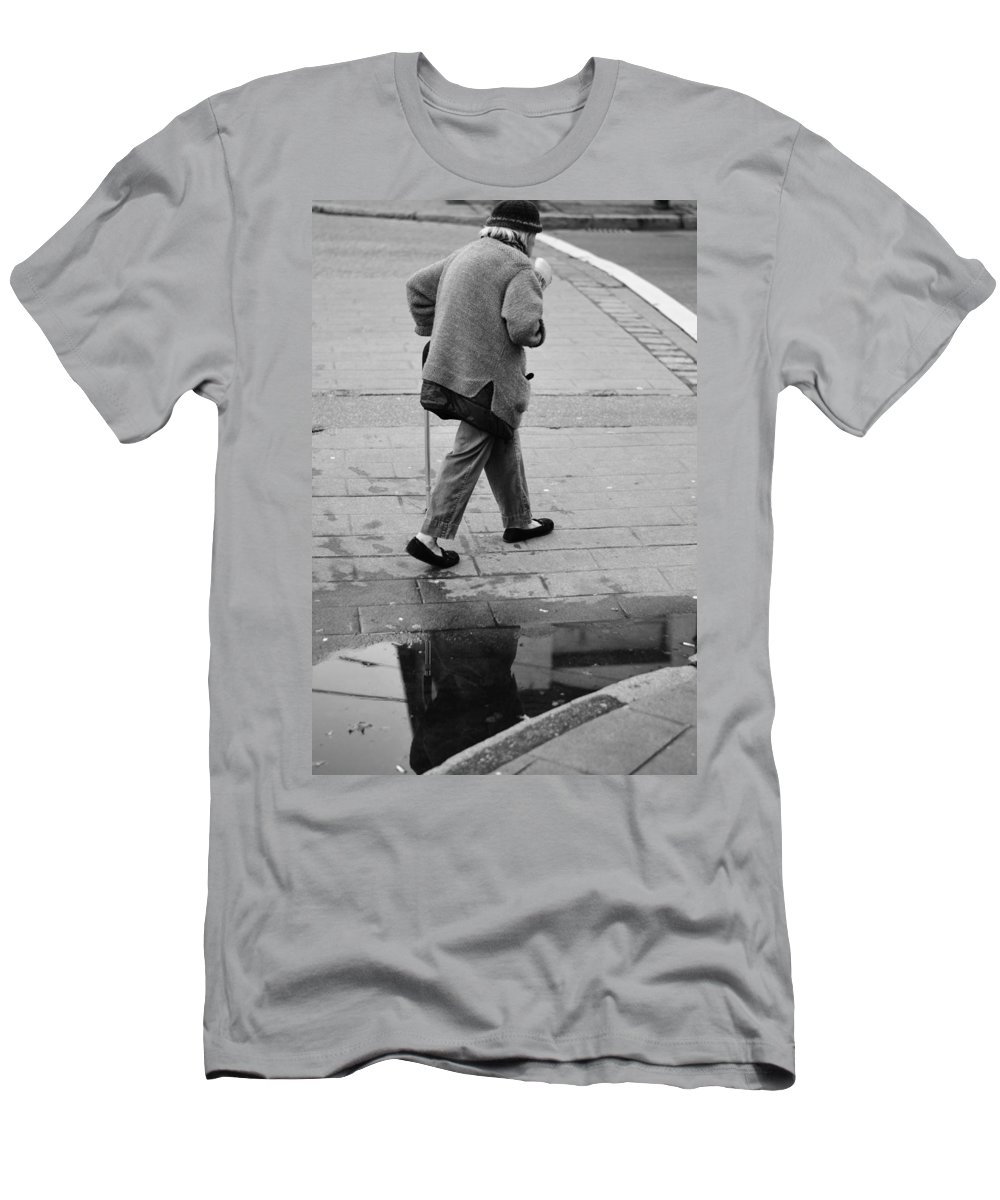 Street Photography Men's T-Shirt (Athletic Fit) featuring the photograph Daily News by The Artist Project