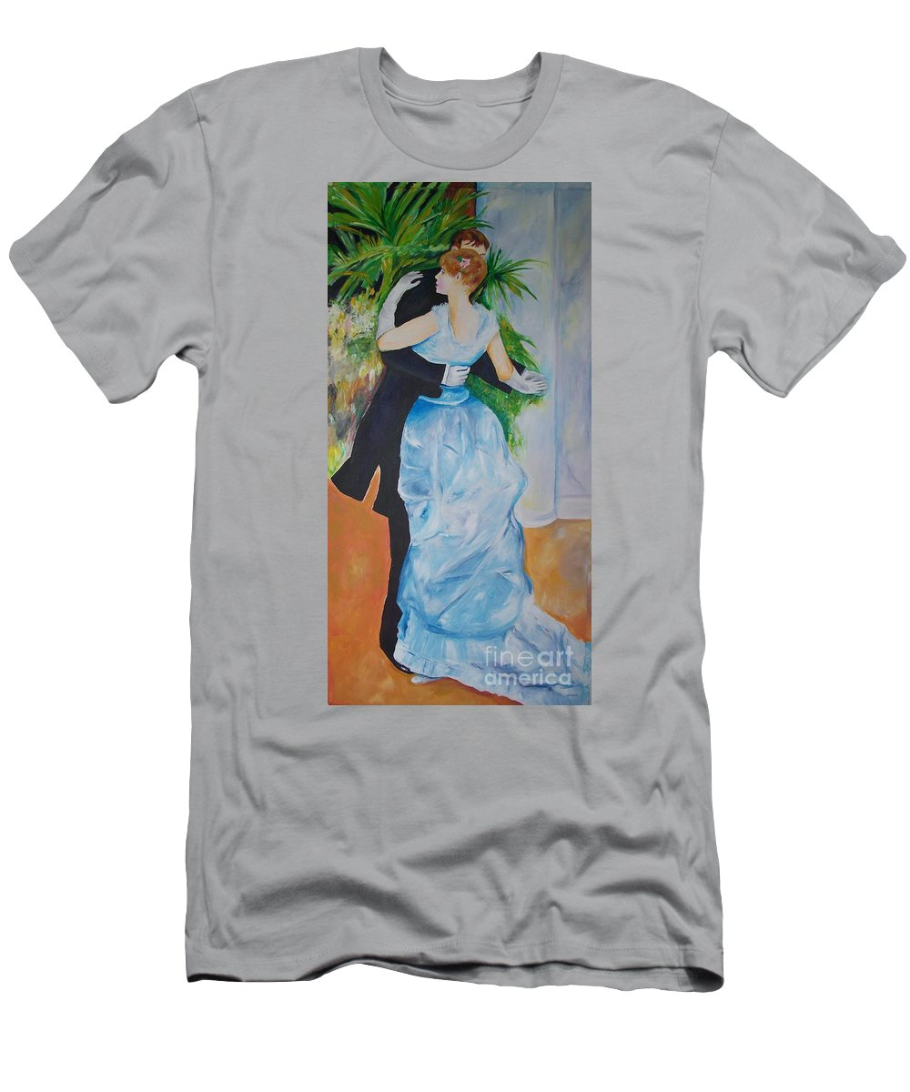 Lavender Men's T-Shirt (Athletic Fit) featuring the painting Dance In The City by Eric Schiabor