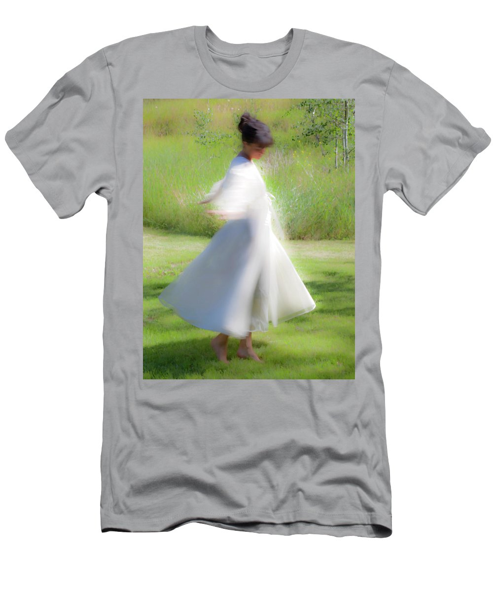 Impressionist Men's T-Shirt (Athletic Fit) featuring the photograph Dancing In The Sun by Theresa Tahara