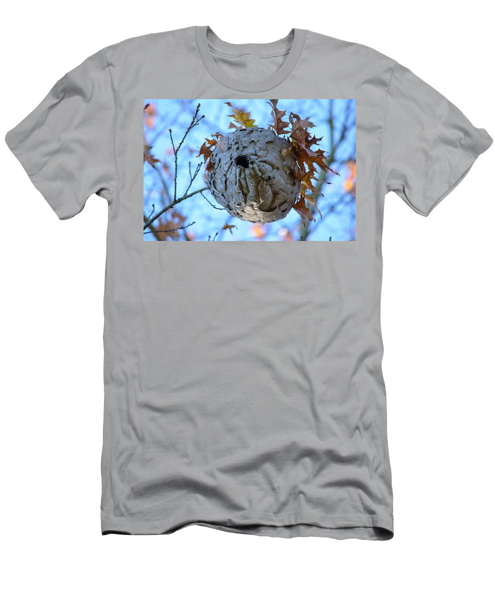 Wasp Nest Men's T-Shirt (Athletic Fit) featuring the photograph Danger Zone by Tikvah's Hope