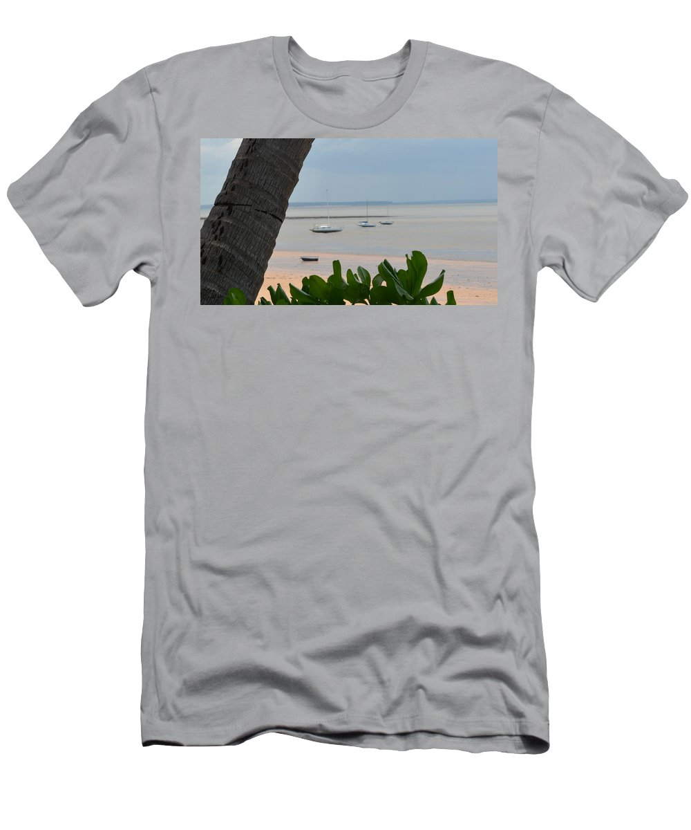Darwin Men's T-Shirt (Athletic Fit) featuring the photograph Fannie Bay 1.1 by Cheryl Miller