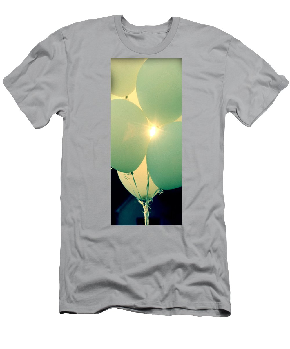 Ballons Men's T-Shirt (Athletic Fit) featuring the photograph Day Of Wishes by The Artist Project