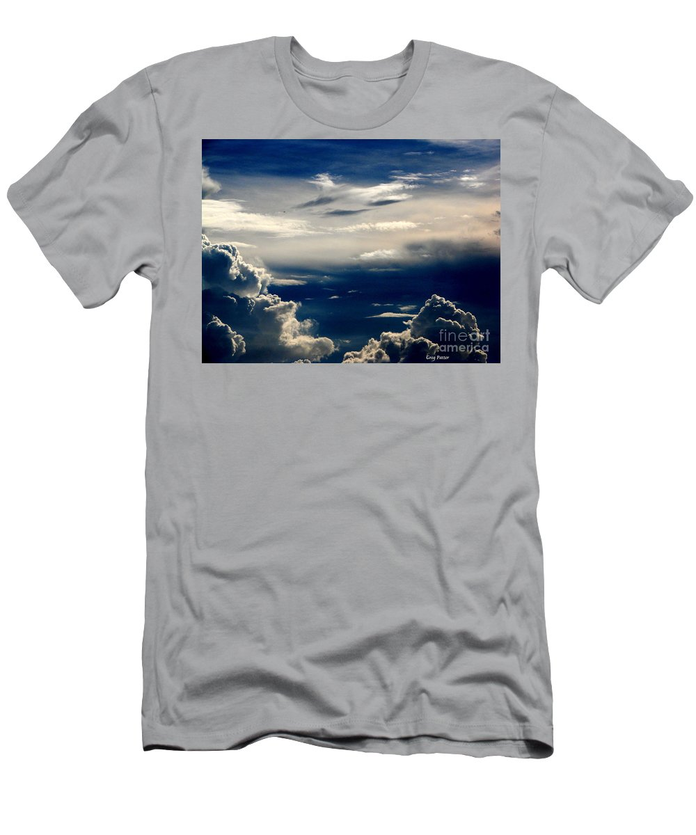 Art For The Wall...patzer Photography Men's T-Shirt (Athletic Fit) featuring the photograph Deep Blue by Greg Patzer