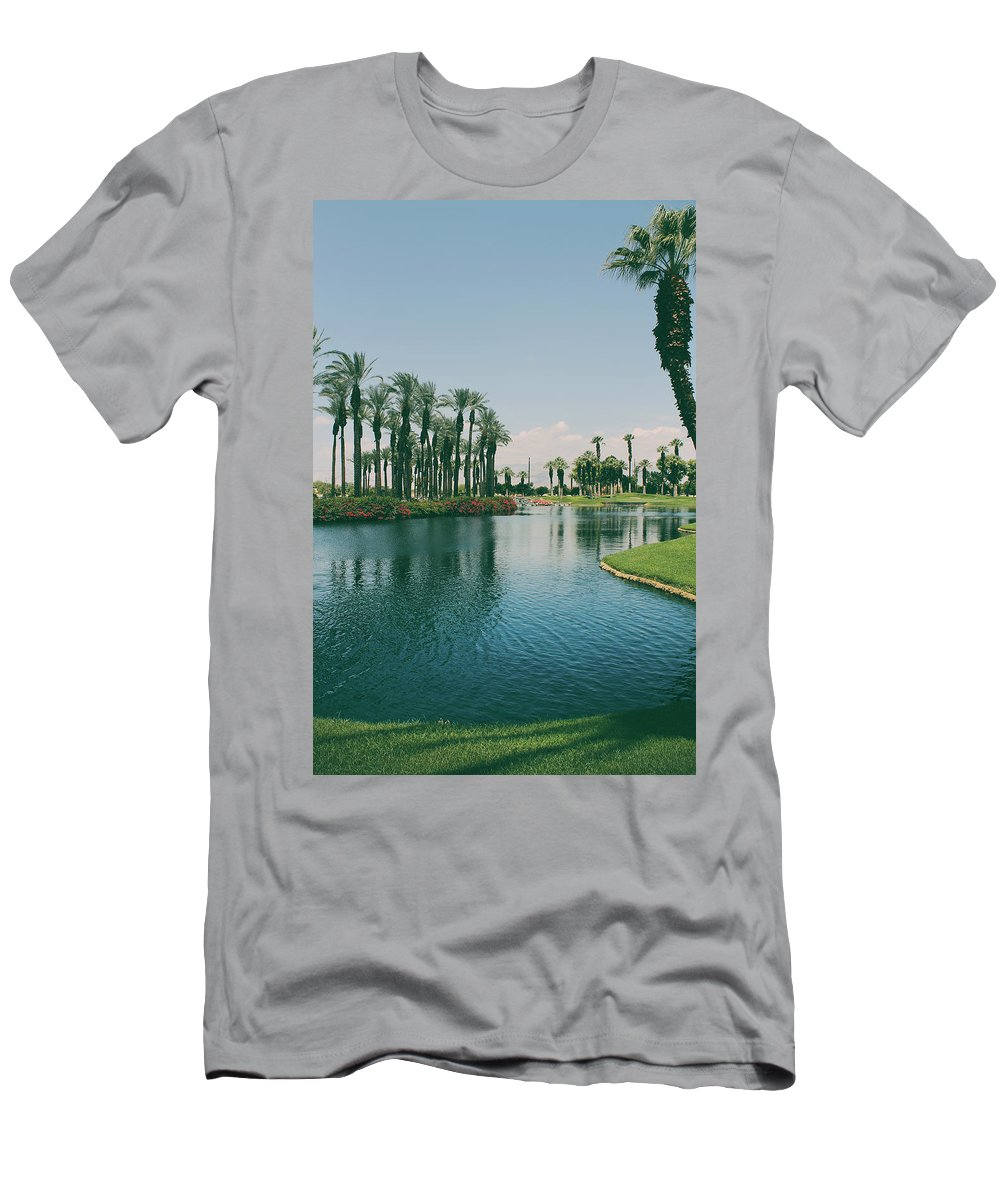 Palm Desert Men's T-Shirt (Athletic Fit) featuring the photograph Deep Breath And Sigh by Laurie Search
