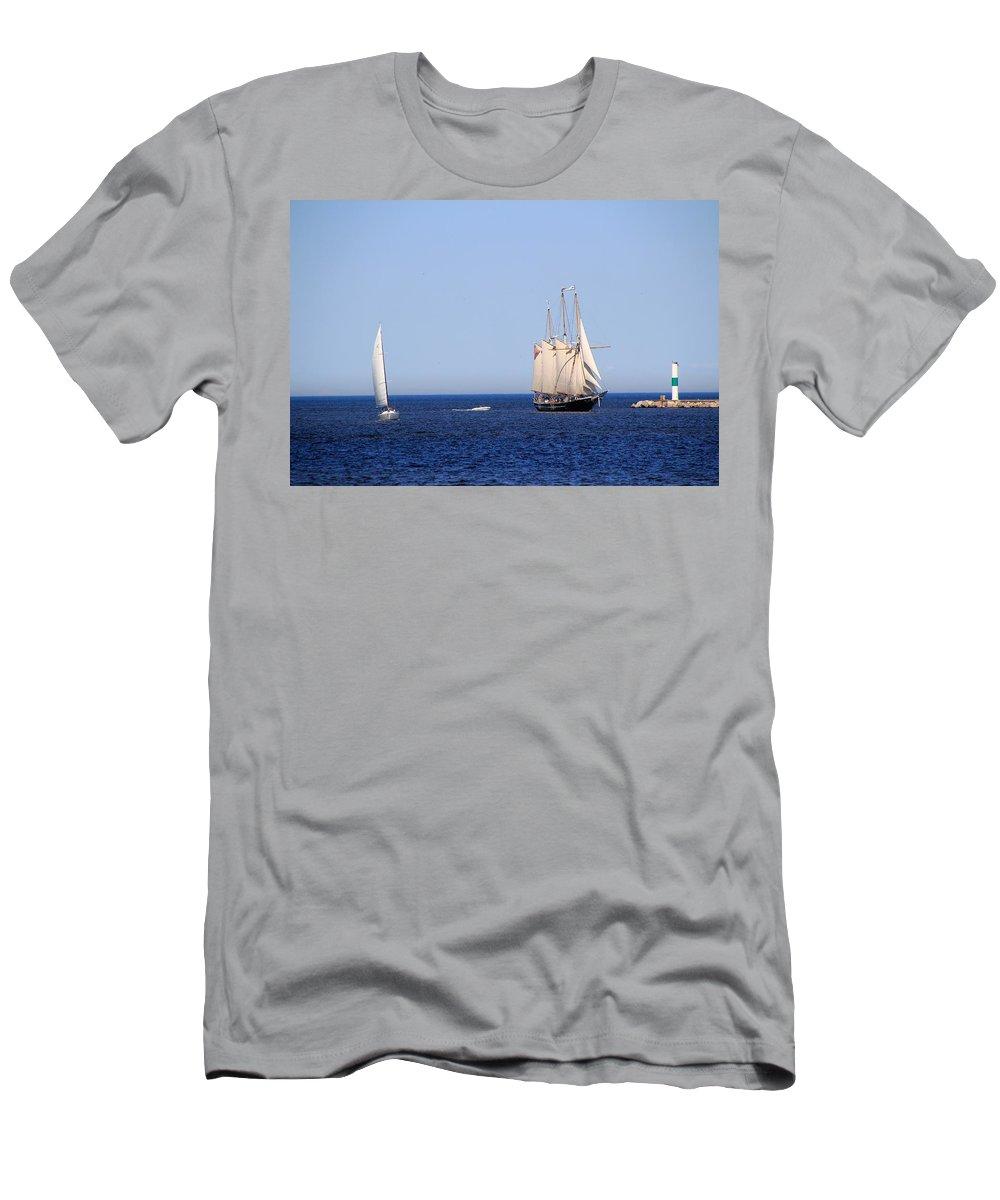 Lakefront Men's T-Shirt (Athletic Fit) featuring the photograph Dennis E Sullivan by Debbie Nobile