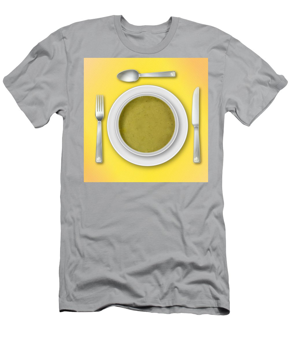 Yellow Men's T-Shirt (Athletic Fit) featuring the photograph Dinner Setting 02 by Jo Roderick