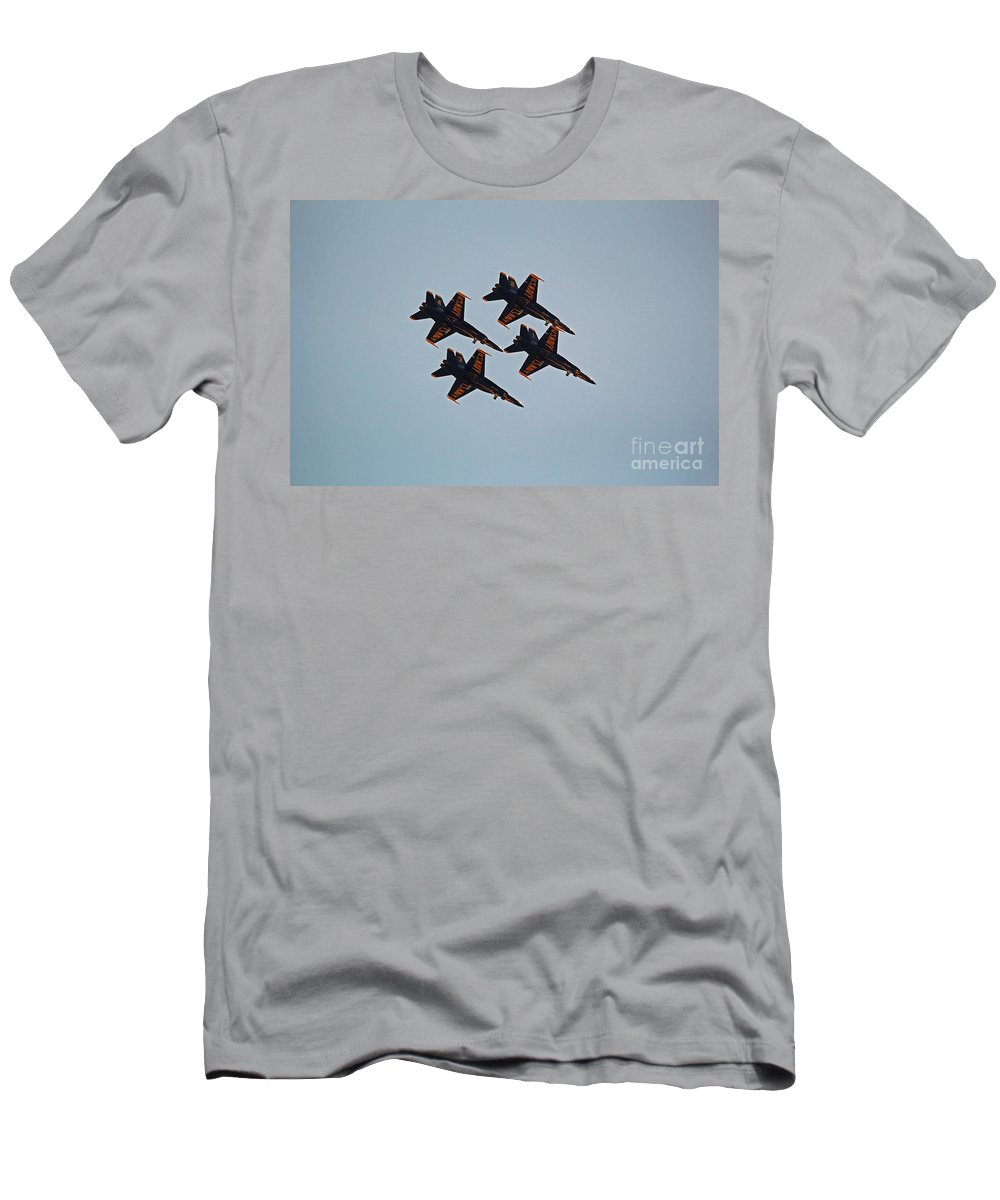 Blue Angels Men's T-Shirt (Athletic Fit) featuring the photograph Dirty Diamond by Jamie Smith