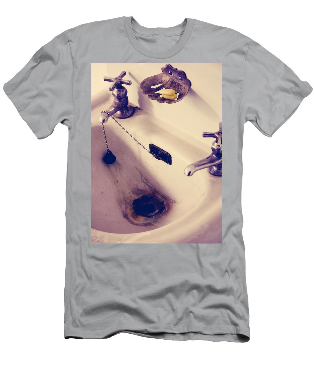 Sink Men's T-Shirt (Athletic Fit) featuring the photograph Dirty Hands by The Artist Project
