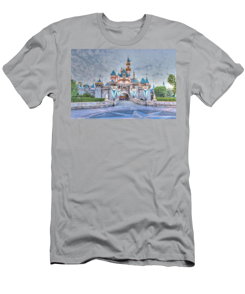 Sleeping Beauty Men's T-Shirt (Athletic Fit) featuring the photograph Disney Magic by Heidi Smith