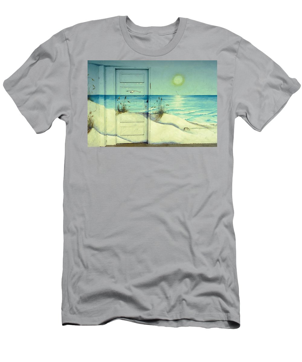 Architecture Men's T-Shirt (Athletic Fit) featuring the photograph Door Of Perception by Skip Hunt