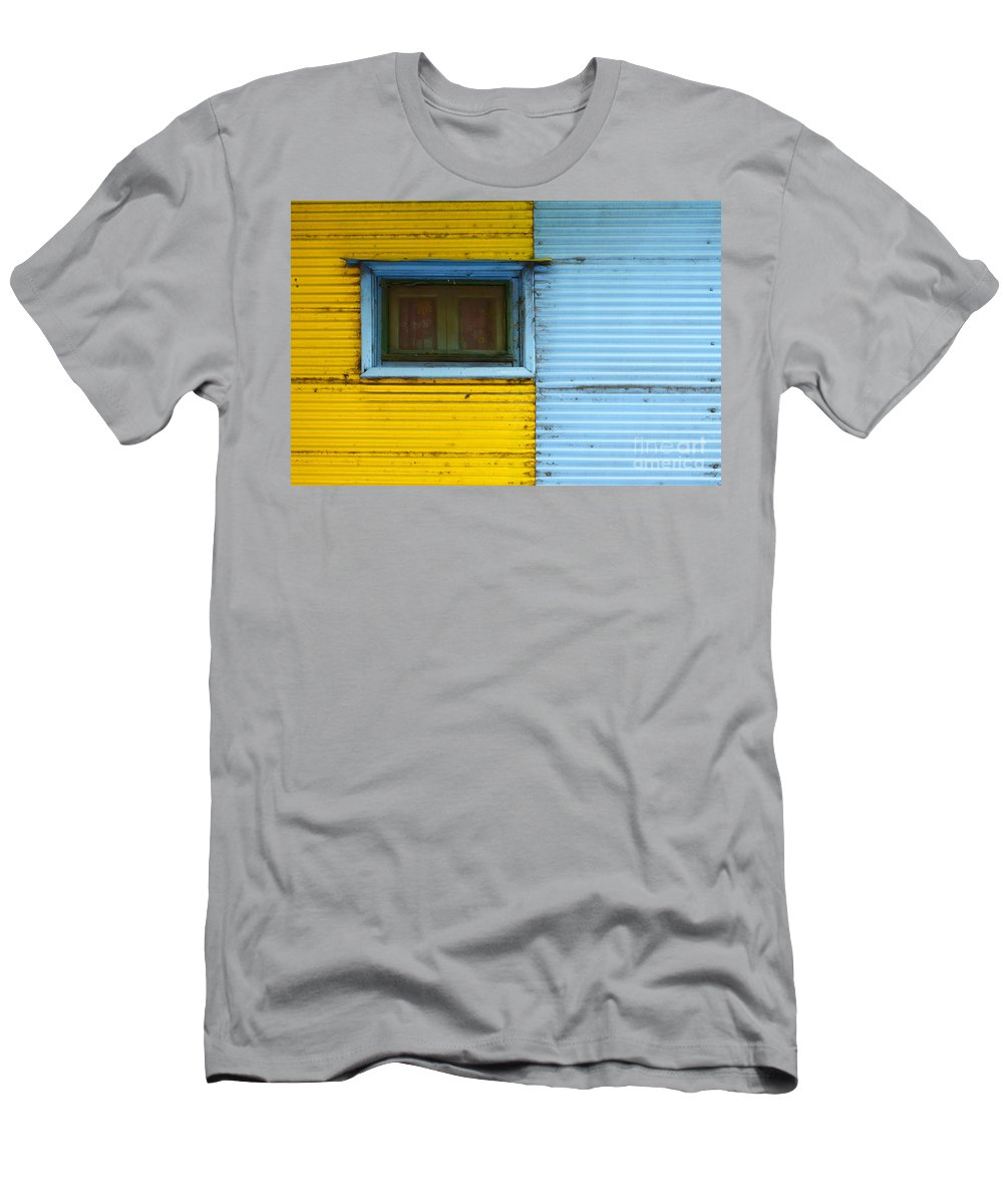 Door Men's T-Shirt (Athletic Fit) featuring the photograph Doors And Windows Buenos Aires 15 by Bob Christopher